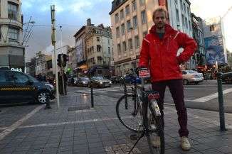 ©Barry Sandland/TIMB - Red bike in Brussels