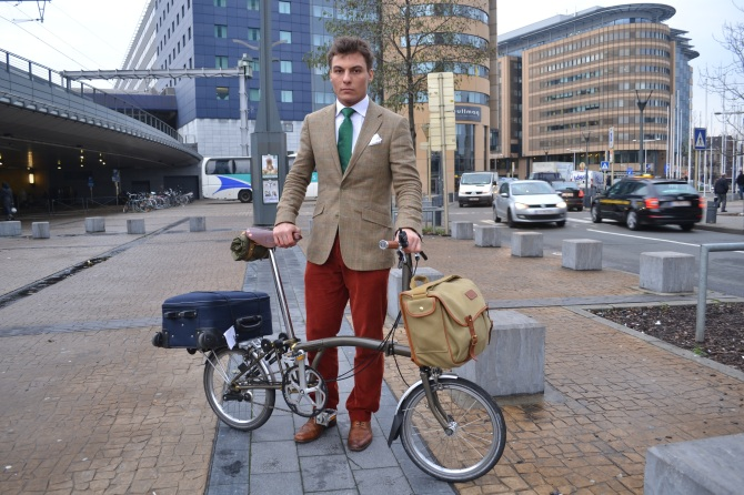 ©Barry Sandland/TIMB A Brit on a folding bike, the Brompton