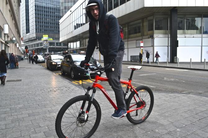 ©Barry Sandland/TIMB - Rider doing a bike stand