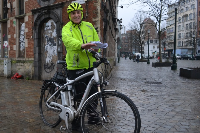 ©Barry Sandland/TIMB - Flat tire with electric bike in poor weather
