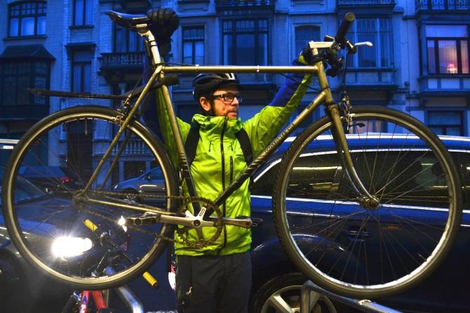 ©Barry Sandland/TIMB - Fixed gear Motobecane bike messenger