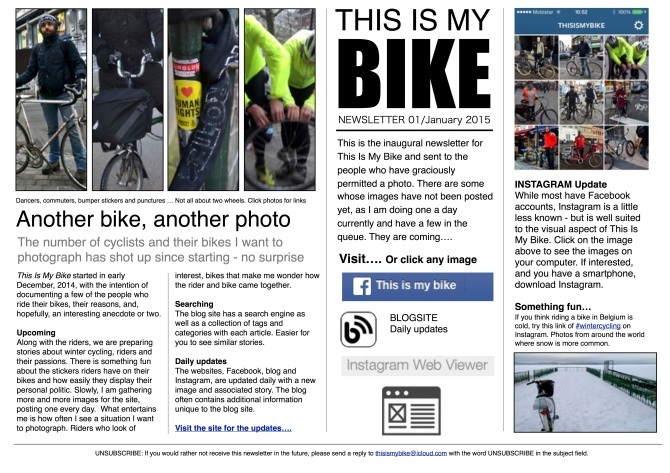 This Is My Bike newsletter