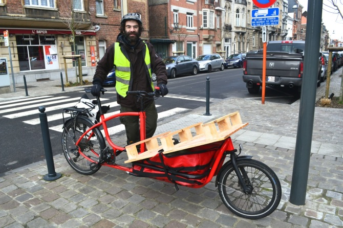 ©Barry Sandland/TIMB - Douze cargo bike in Brussels, Belgium