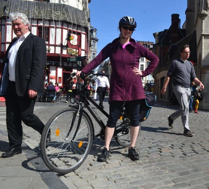 ©Barry Sandland/TIMB - German rioder on her Excelsior touring bike
