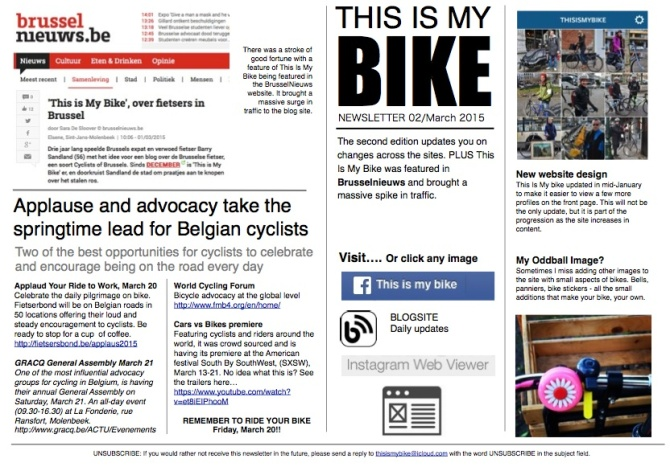 This Is My Bike newsletter 02 - March 2015