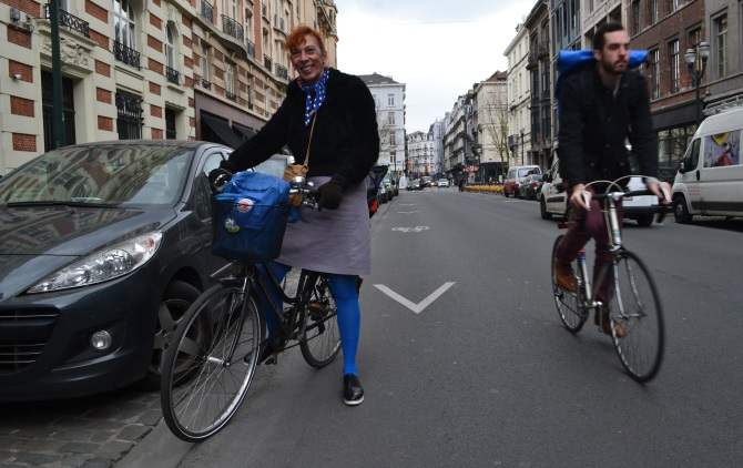 ©Barry Sandland/TIMB = Schoolteacher and her bike