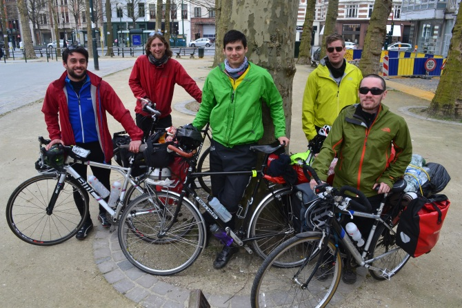 ©Barry Sandland/TIMB - Five UK cyclists on the continent for a multi-country tour
