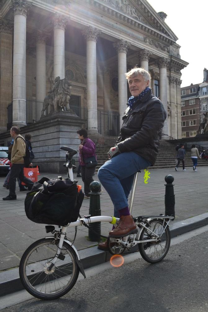 ©Barry Sandland/TIMB - Man with foldable bike