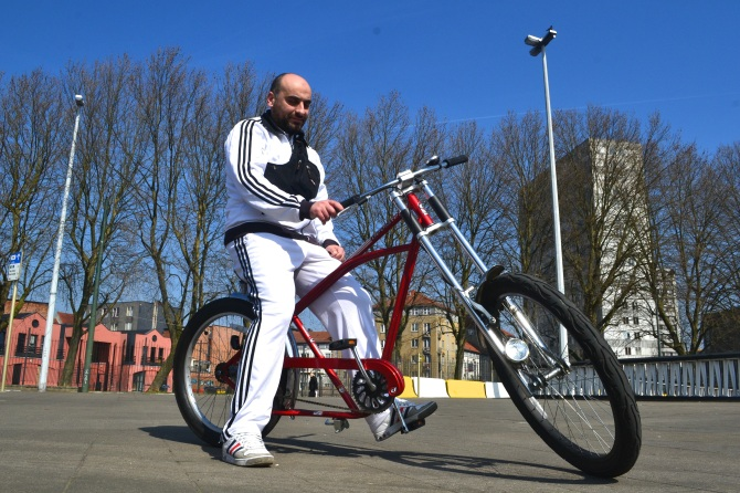 ©Barry Sandland/TIMB - Chopper low-rider bicycle in Brussels