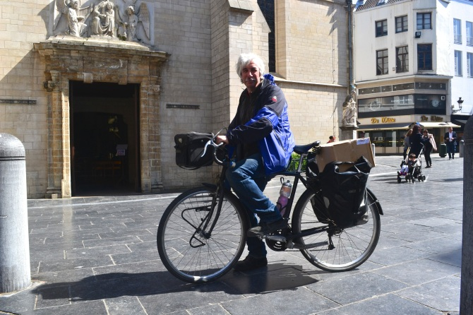 ©Barry Sandland/TIMB - Touring rider in Brussels