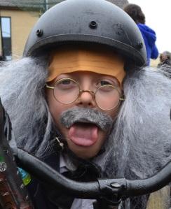 ©Barry Sandland/TIMB - Albert Einstein as a soapbox cart driver