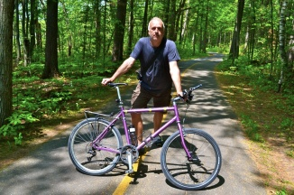 @Michael Basham - Cyclist on the bike paths in Ontario
