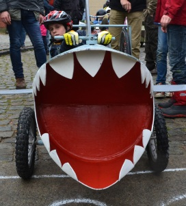 ©Barry Sandland/TIMB - Shark mouth soapbox cart