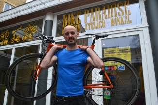 ©Barry Sandland/TIMB - Bike Paradise bike shop in Brussels, Belgium