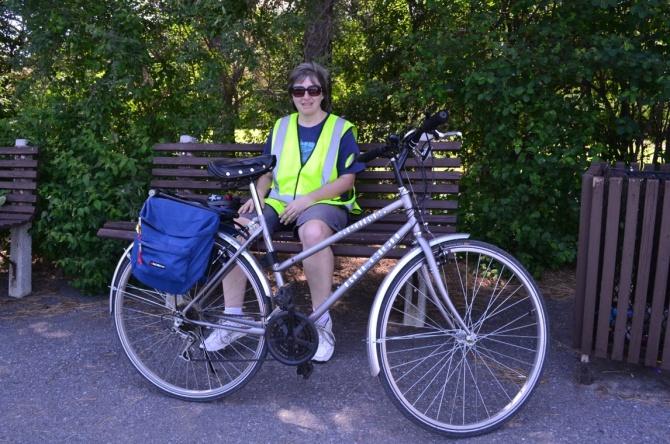 ©Barry Sandland/TIMB - Woman with her Raleigh bike in Ottawa