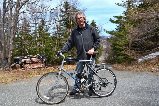 @Barry Sandland/TIMB - Bicycle with 80cc motor attached