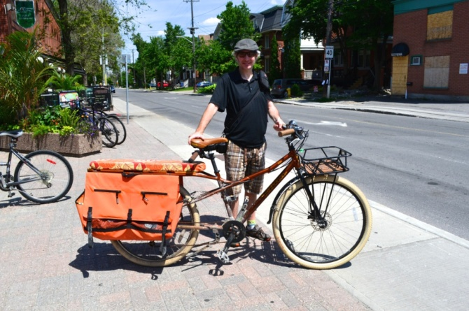 ©Barry Sandland/TIMB 0- California longtail cargo bike with the owner