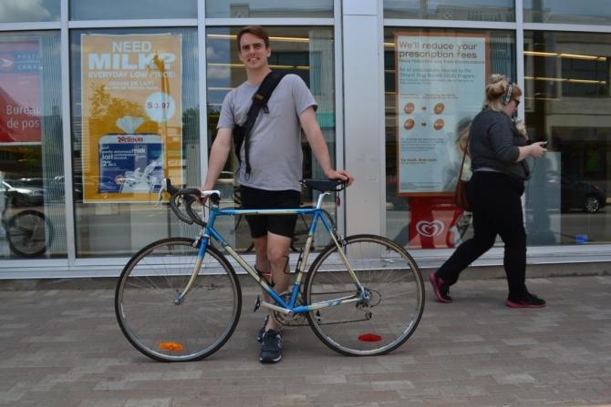 ©Barry Sandland/TIMB - Man with his Marinoni bike