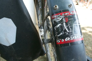 ©Barry Sandland/TIMB - Your Car Door is a Death Trap sticker