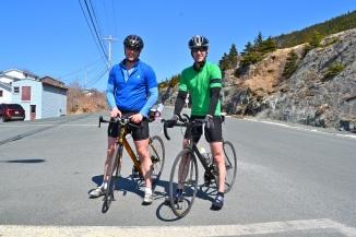 @Barry Sandland/TIMB - To triathlete cyclists in Newfoundland
