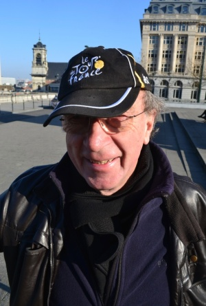 ©Barry Sandland/TIMB - I caught this rider in February and ended up discussing the Tour de France - what else when the rider wears this hat.