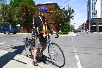 ©Barry Sandland/TIMB - Woman on her vintage bike in Ottawa, Ontario