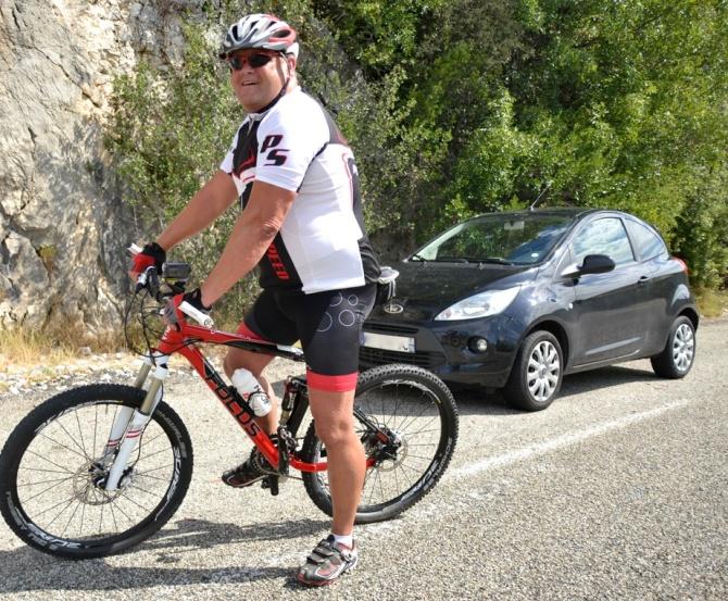 ©Barry Sandland/TIMB - Dutch cyclist on the Gorge d'Ardeche