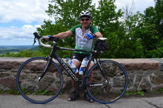 ©Barry Sandland/TIMB - Rider at the top of the Gatineau hills