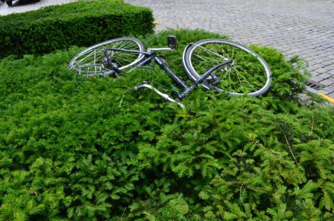 ©Barry Sandland/TIMB - A stolen bike in Ghent