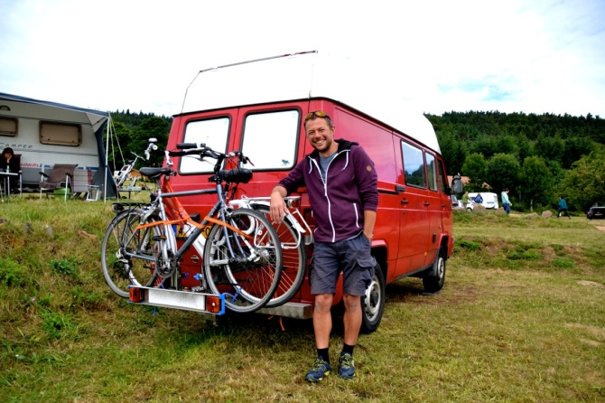 ©Barry Sandland/TIMB - Vacation camper with their bikes