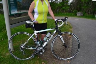 ©Barry Sandland/TIMB - Woman with her Trek road bike