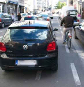 ©Barry Sandland/TIMB - Bike lanes are used for double parking or simply a car lane