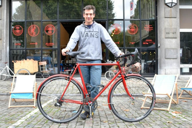 ©Barry Sandland/TIMB - Nicolas Noble and his randonneur ride at MAD Bike