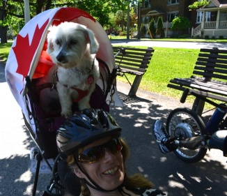 ©Barry Sandland/TIMB- Wounded Warrior cyclist with her service dog