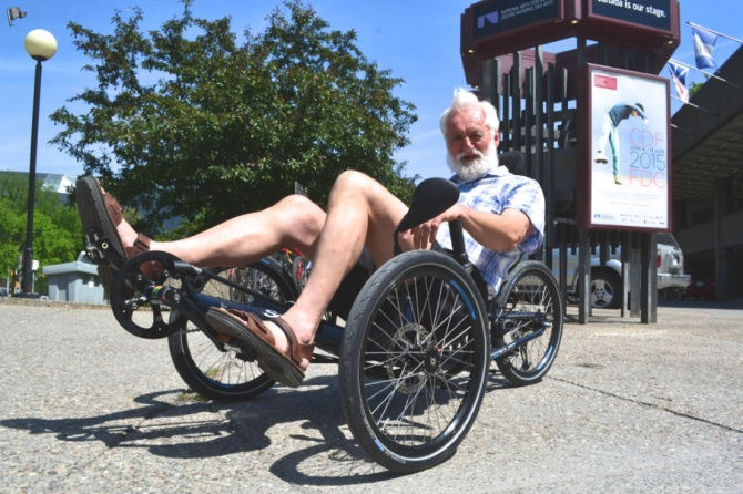 ©Barry Sandland/TIMB - Three wheeled recumbent