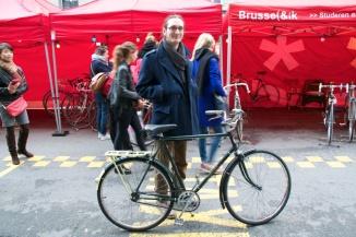 ©Barry Sandland/TIMB - Student with his first bike since childhood