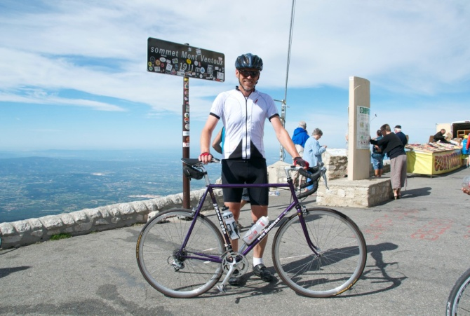 ©Barry Sandland/TIMB - Rider with a Pete Matthews bike on Mont Ventoux
