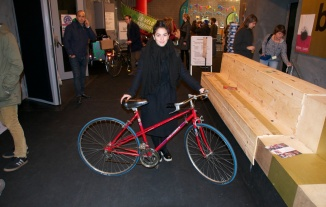 ©Barry Sandland/TIMB - Student with her new bike at the Brik event