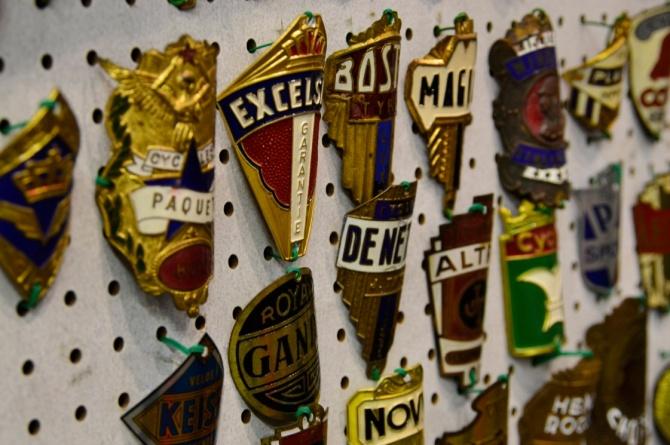 @Barry Sandland/TIMB - Vintage bike medals, the remains of many a vintage ride long gone.