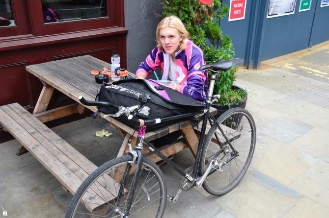 ©Barry Sandland/TIMB - London bike messenger on a break