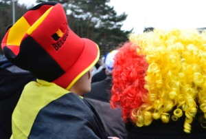 ©Barry Sandland/TIMB- Belgian spectators at the World Cyclocross Championships