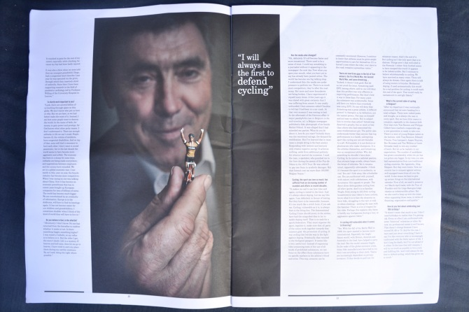 Barry Sandland/TIMB - Eddy Merckx Legends magazine inside spread