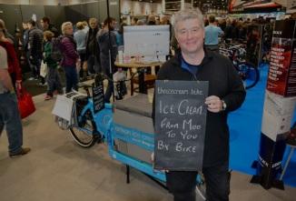 Artisanal ice cream from a Bullitt cargo bike