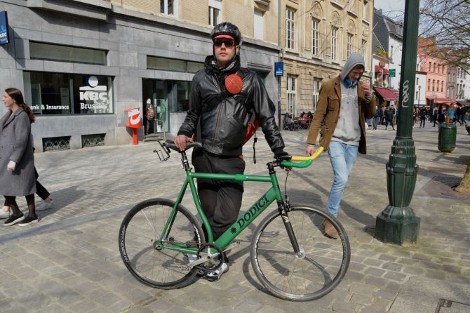 ©Barry Sandland/TIMB - Rider w Dodici track bike in Brussels