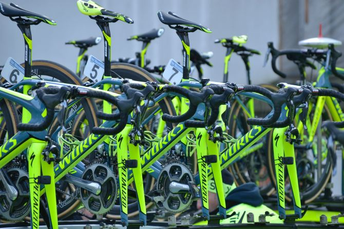 ©Barry Sandland/TIMB - Tinkoff team and their carbon fibre bikes