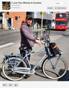 ©Barry Sandland/TIMB - Man with his cargo bike in Molenbeek