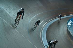 ©Barry Sandland/TIMB - Cycling club ride the bend at the Eddy Merckx velodrome