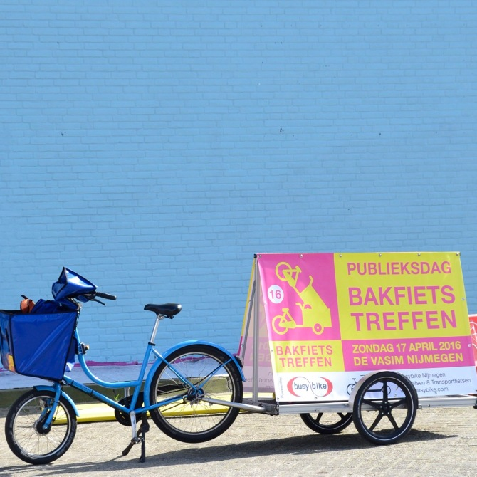©Barry Sandland/TIMB - Cargo bike promoting the European cargo bike championships in Holland