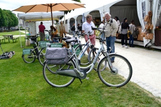 ©Barry Sandland/TIMB - Electric bikes at a garden show isn Belgium