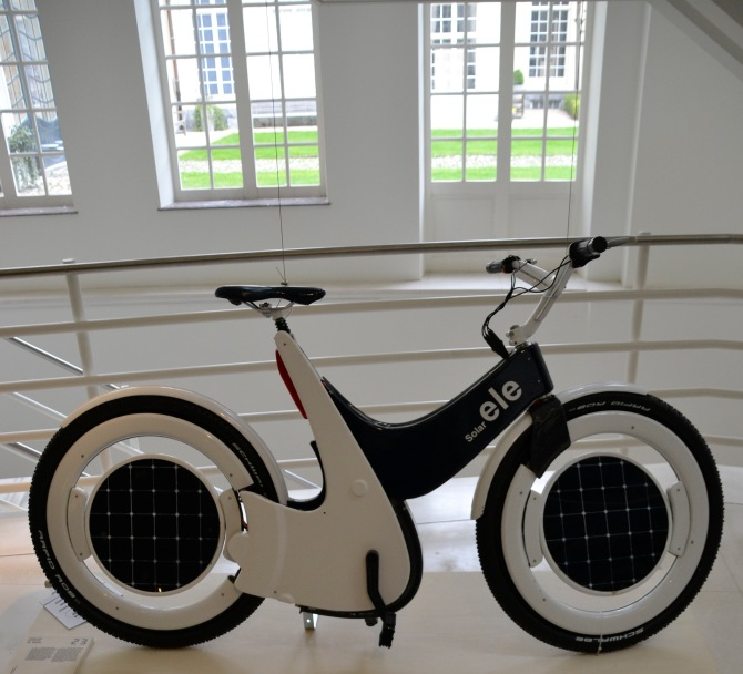 ©Barry Sandland/TIMB - Solar power bike at the Bike to the Future exhibit in Ghent